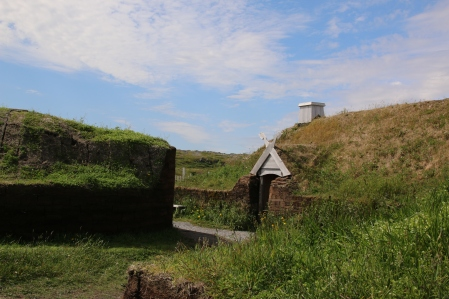 Replica Viking houses.